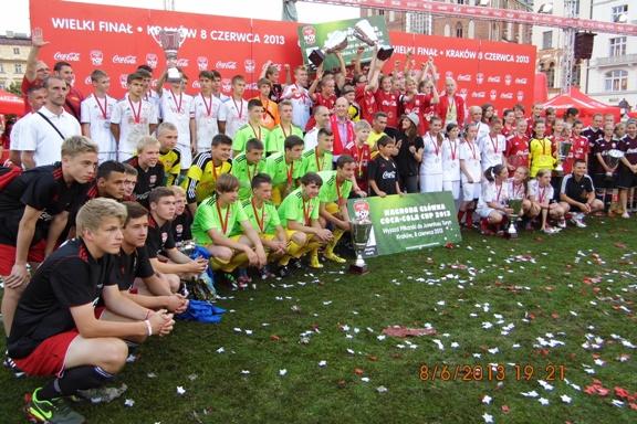 III miejsce Gimnazjalistów zRedy wCOCA COLA CUP 2013