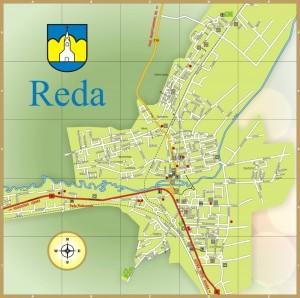 Reda plan miasta mapa 2013