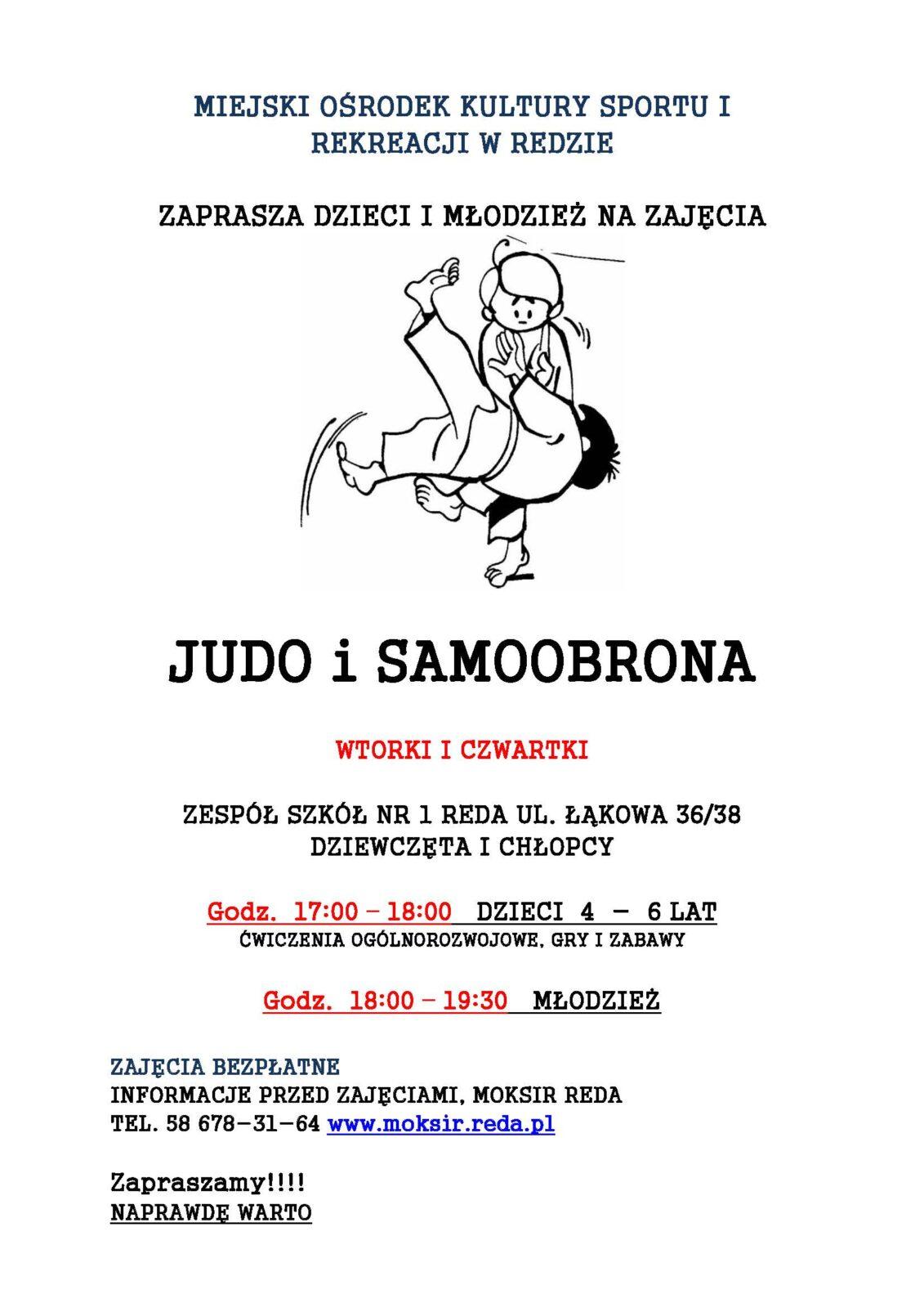 Zajęcia Judo iSamoobrony dla dzieci imłodzieży
