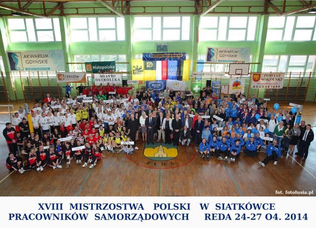 grupowe XVIII mistrzostwa Polski wpiłce siatkowej samorządowców