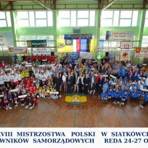 XVIII Mistrzostwa Polski wPiłce Siatkowej Pracowników Samorządowych zanami.