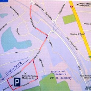 Parking na1 Listopada przy ul.Gniewowskiej