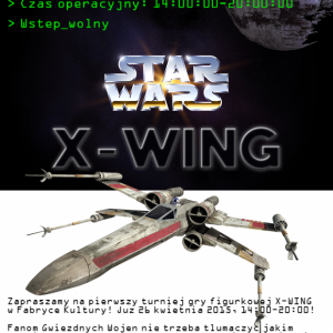 MDK zaprasza naTurniej X-WING