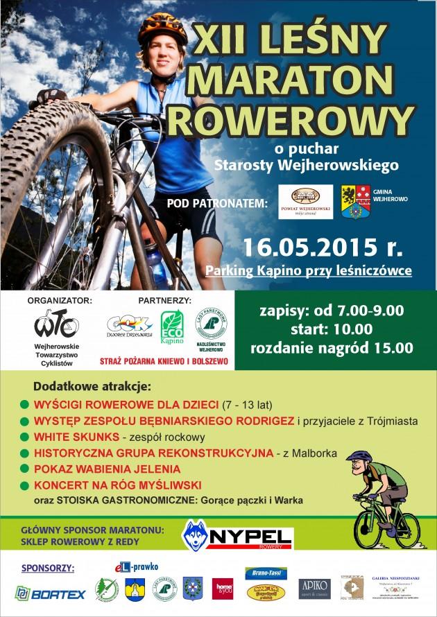 leśny maraton 2015 - plakat