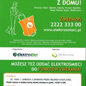 Bezpłatny odbiór dużych elektrośmieci zdomu