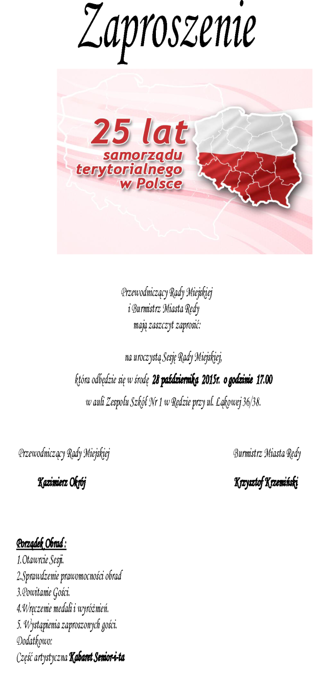 Zaproszenie nasesję 25-lecie - BIP-1