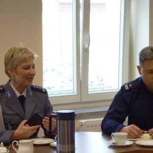 Spotkanie zprzedstawicielami Policji