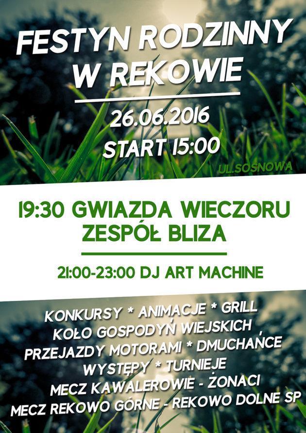 Zaproszenie nafestyn wRekowie