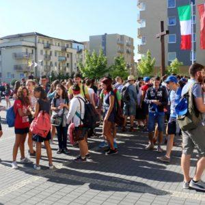 Włoscy pielgrzymi wRedzie