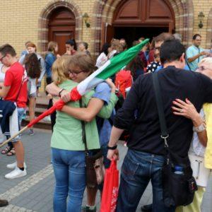 Pożegnanie  włoskich pielgrzymów