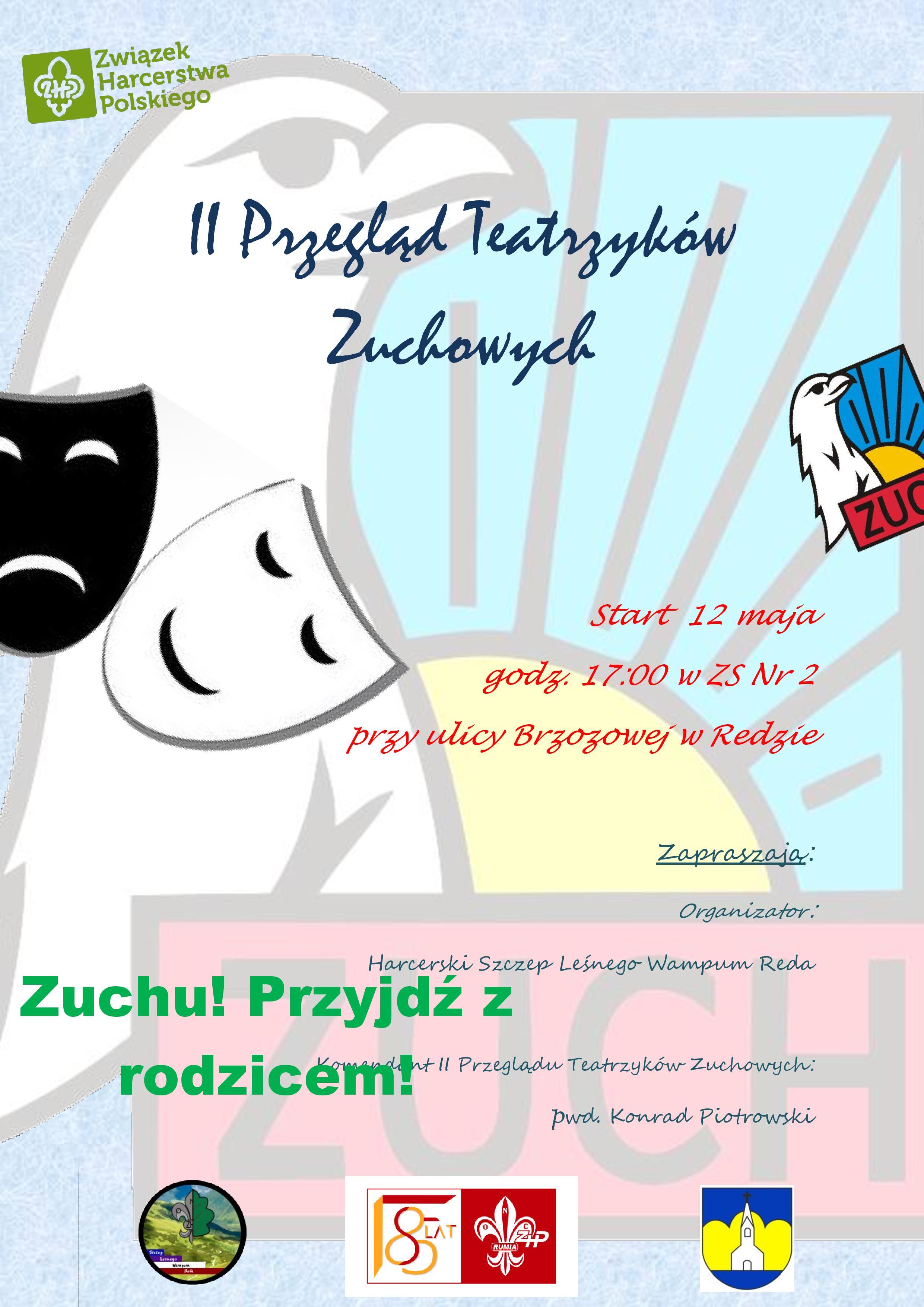 12 maja zapraszamy naII Przegląd Teatrzyków Zuchowych