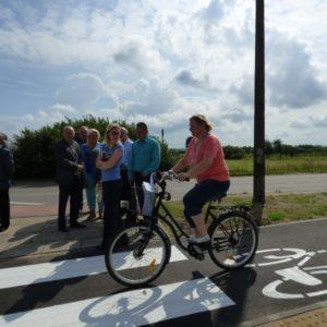 Ścieżka rowerowa naulicy Obwodowej oficjalnie otwarta