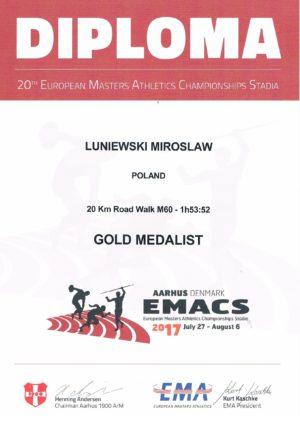 Mirosław Łuniewski mistrzem Europy