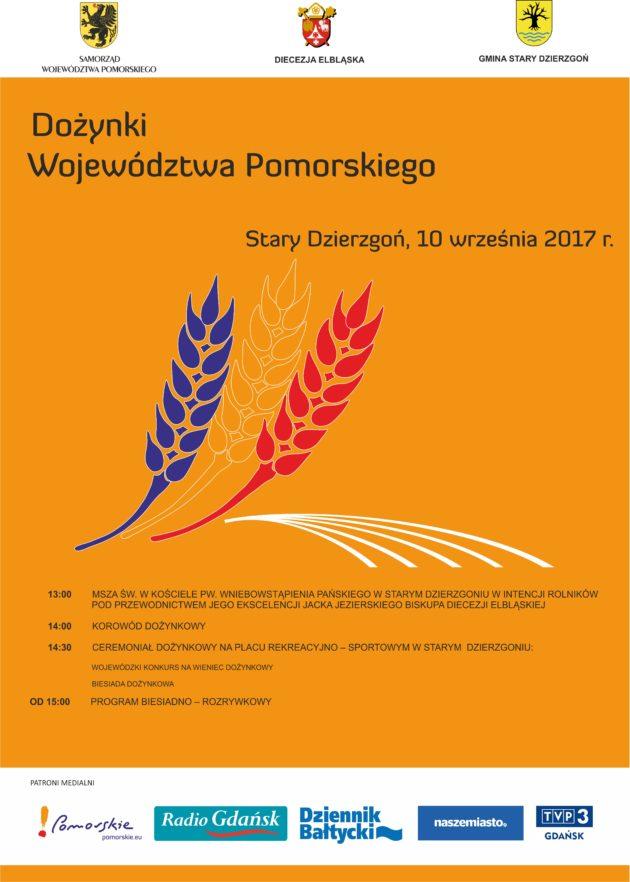 Zapraszamy naDożynki Wojewódzkie 2017 wStarym Dzierzgoniu