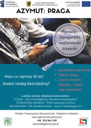 Polskie Towarzystwo Ekonomiczne realizuje projekt skierowany domieszkańców powiatu wejherowskiego
