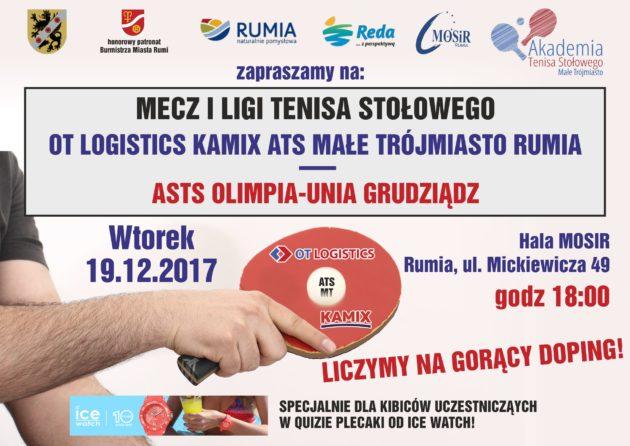 Zapraszamy namecz kończący pierwszą rundę rozgrywek sezonu 2017/18