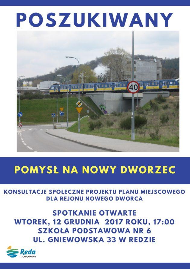 Informujemy okontynuacji konsultacji społecznych projektu miejscowego planu zagospodarowania przestrzennego wrejonie nowego dworca kolejowego – II etapu