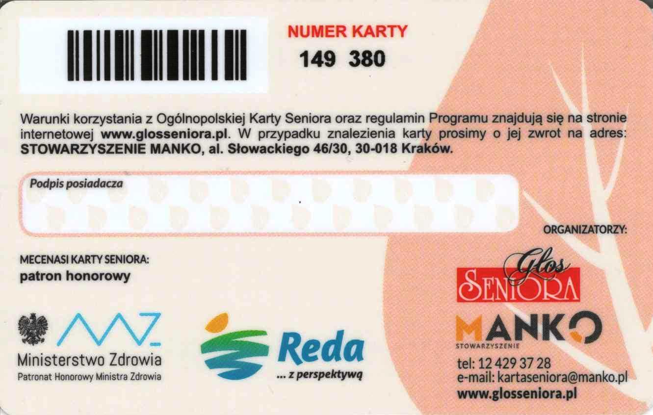 Karta Seniora dla mieszkańców Redy