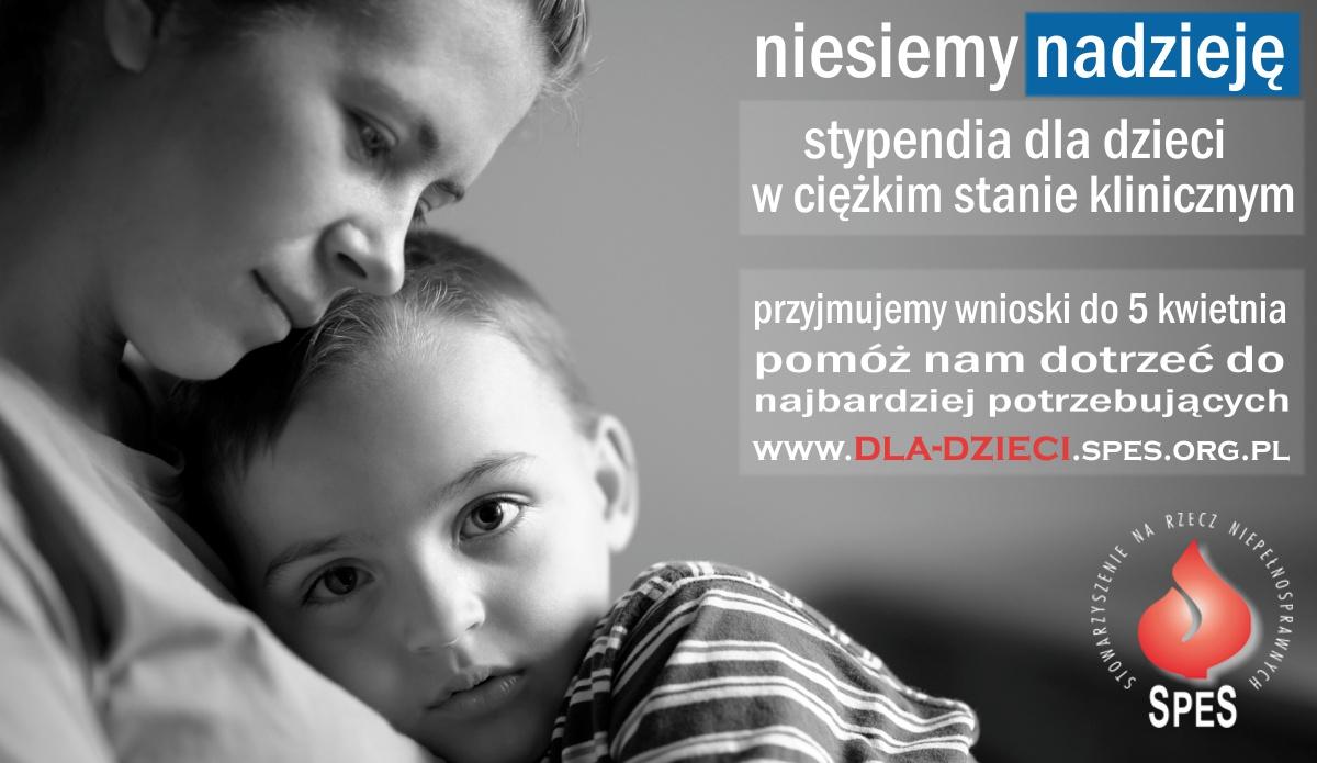 Program Pomocy Dzieciom – stypendia dla dzieci wciężkim stanie klinicznym