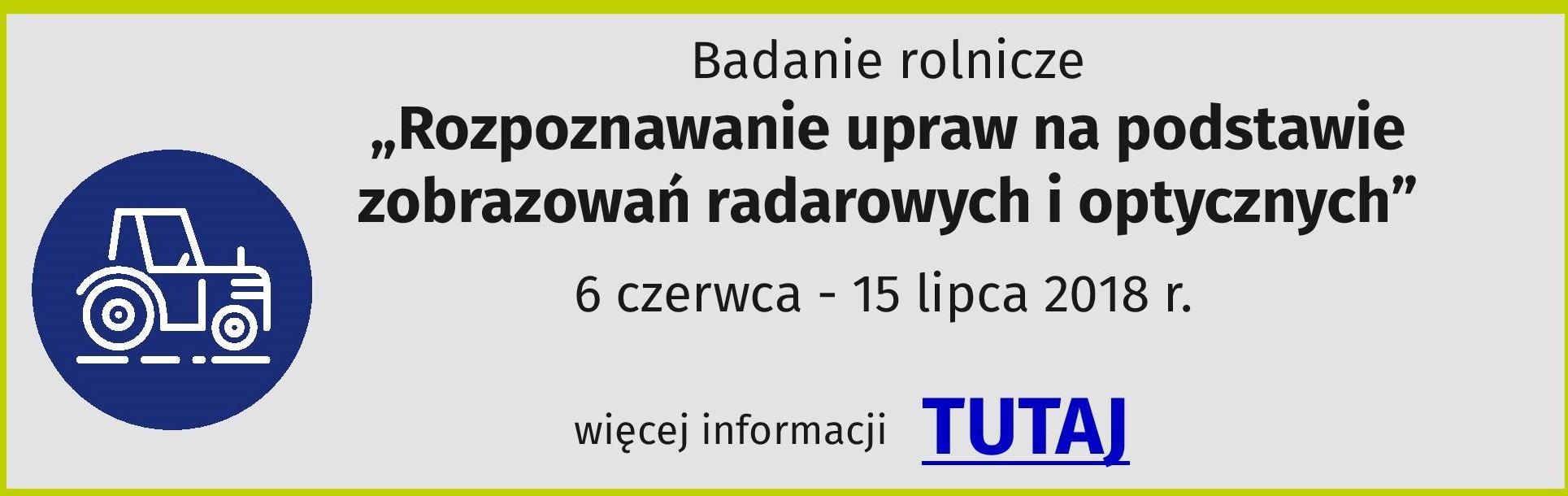 Badania statystyczne zzakresu rolnictwa wczerwcu ilipcu 2018 r.
