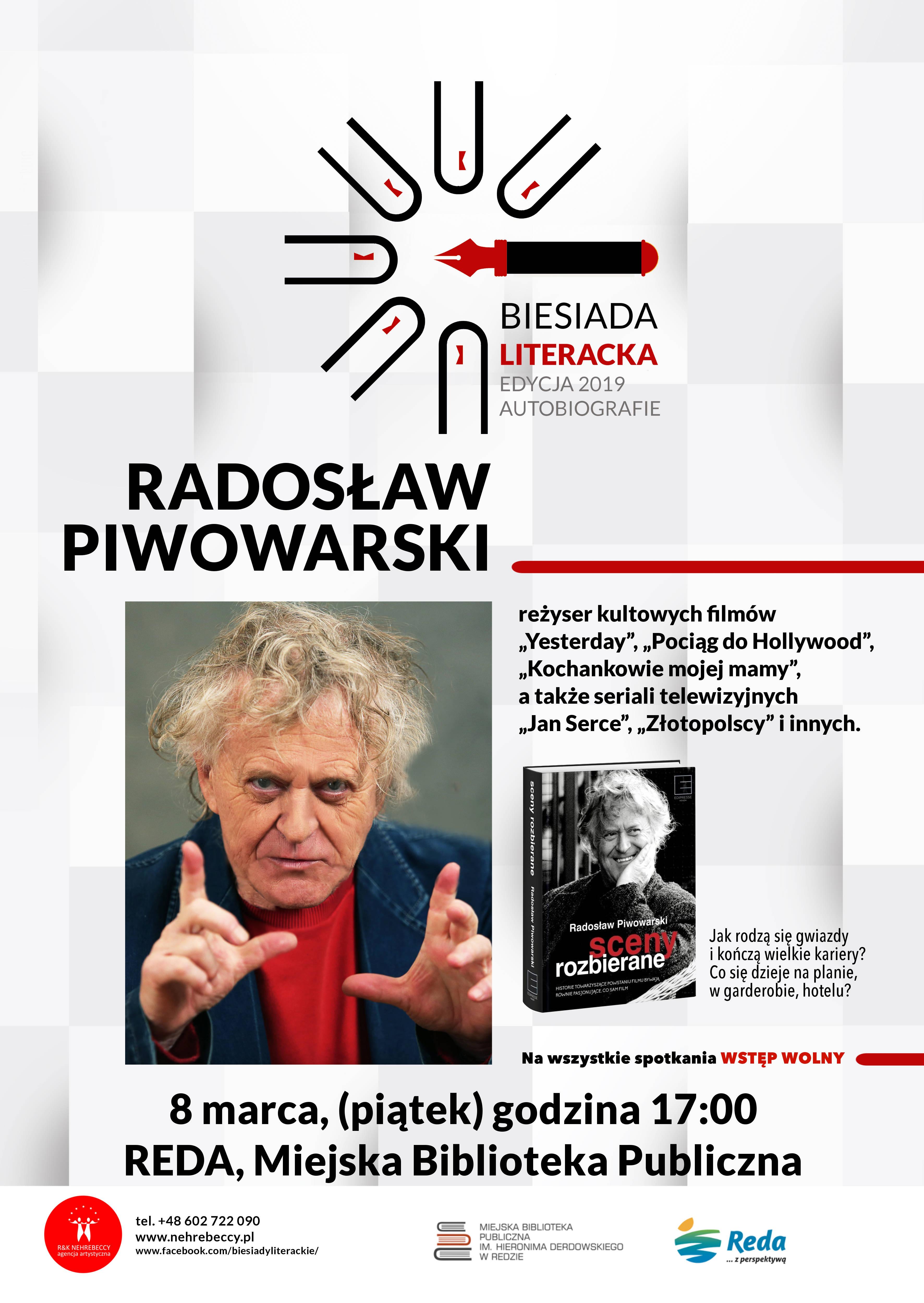 Biesiada Literacka z Radosławem Piwowarskim w redzkiej bibliotece