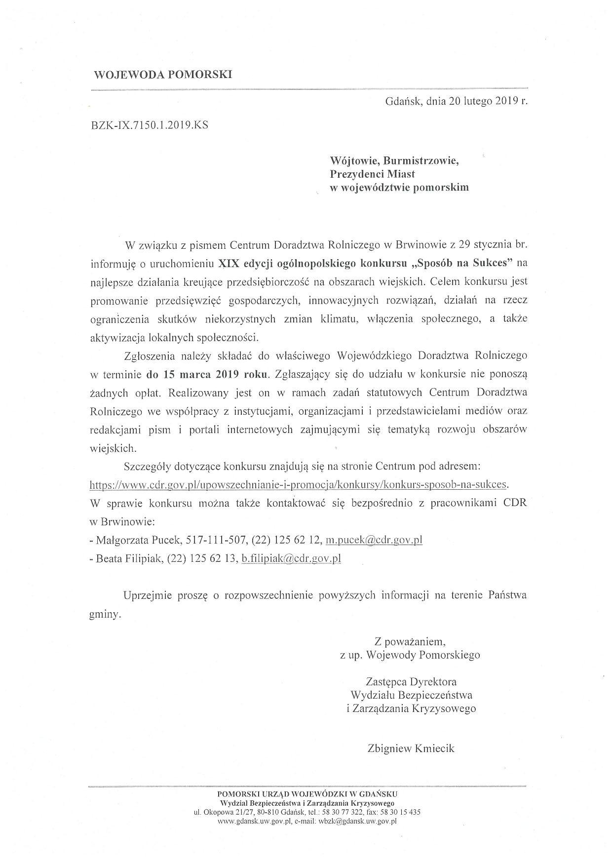 "XIX edycja konkursu ""SPOSÓB NASUKCES"""