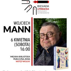 W najbliższą sobotę, 6 kwietnia, zapraszamy do redzkiej biblioteki na Biesiadę Literacką z Wojciechem Mannem