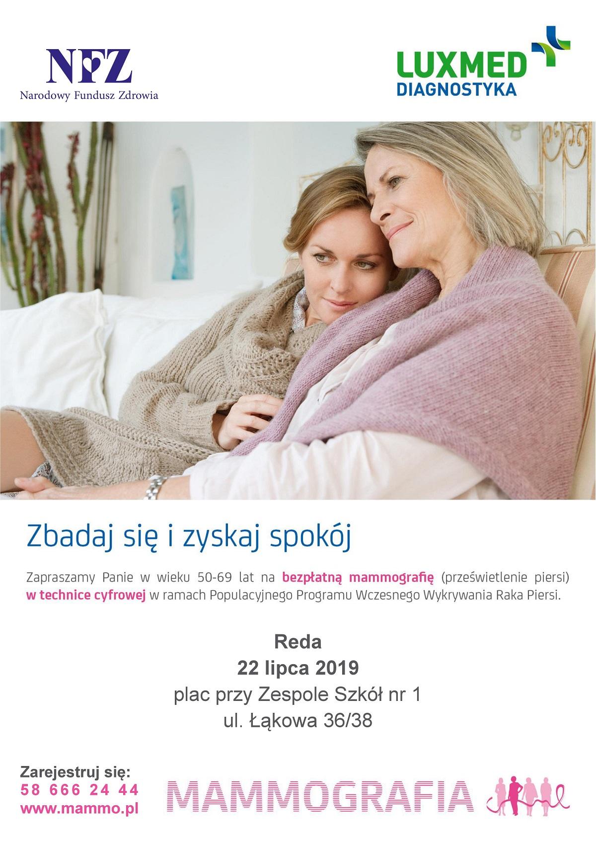 Zapraszamy nabezpłatne badania mammograficzne!