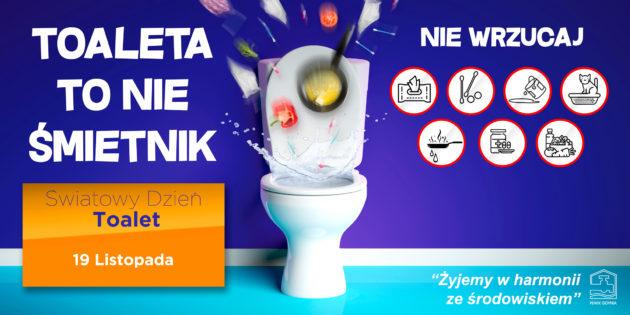 WŚwiatowym Dniu Toalet przypominamy – Toaleta tonieśmietnik!