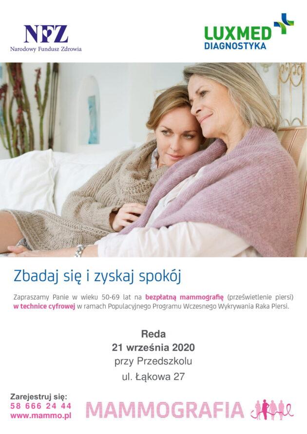 Zapraszamy nabezpłatne badania mammograficzne