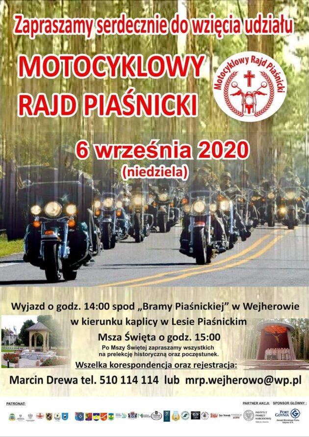 Zapraszamy naIII Motocyklowy Rajd Piaśnicki