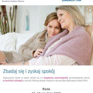 Bezpłatne badania mammograficzne w Redzie