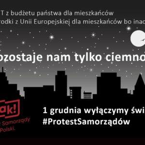 #ProtestSamorządów WRedzie też zgaśnie światło