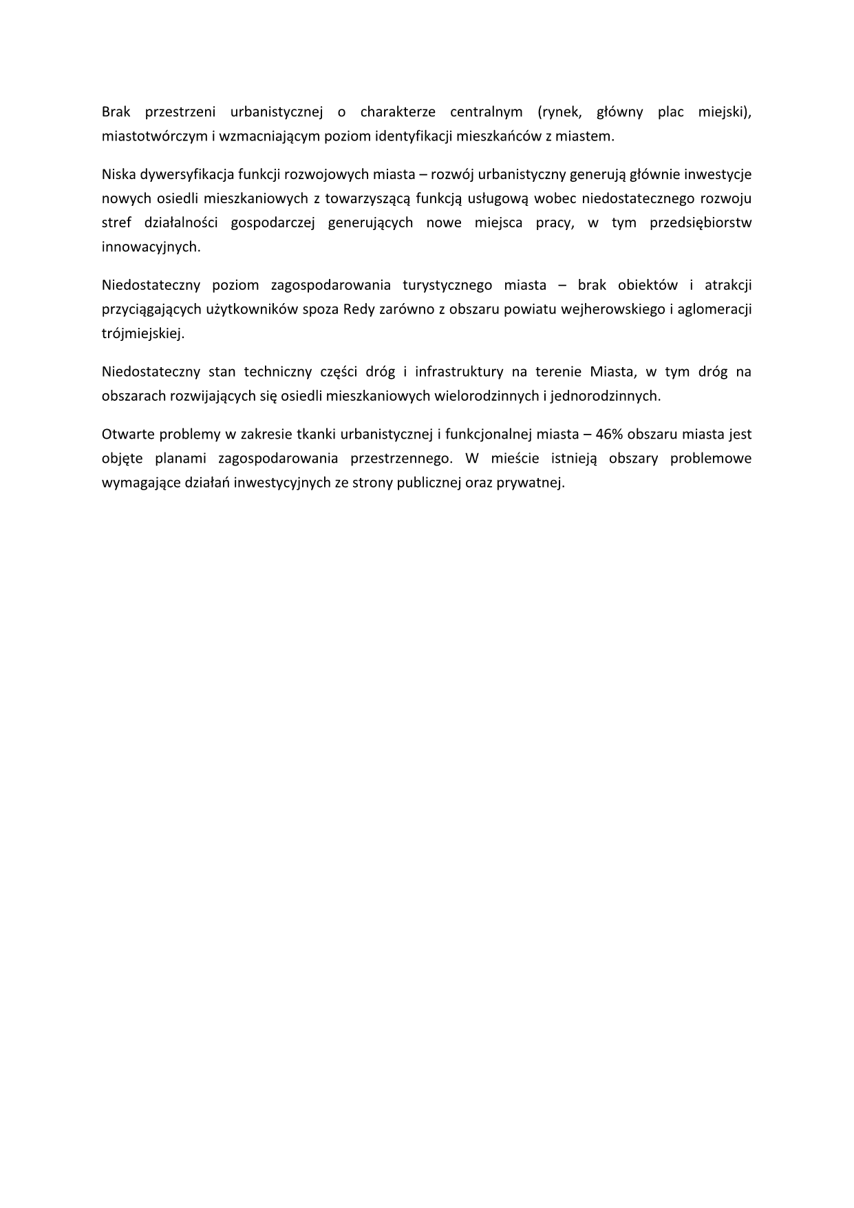 Diagnoza społeczno-gospodarcza Miasta Redy nalata 2015-2019