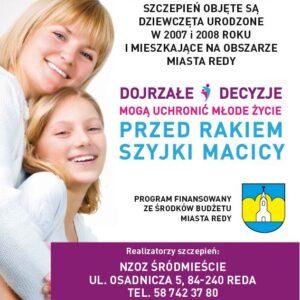 SZCZEPIENIA PRZECIWKO WIRUSOWI BRODAWCZAKA LUDZKIEGO (HPV)