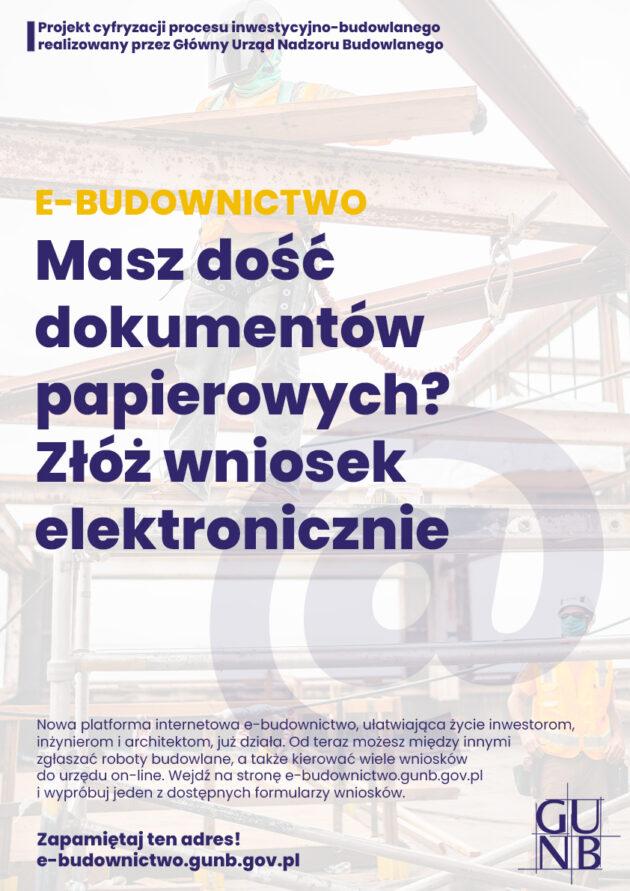 Wserwisie e-budownictwo są już dostępne niektóre wnioski