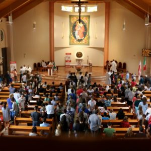 Pierwsza  w Redzie msza święta po włosku