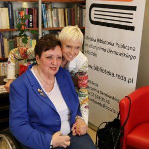 Ewa Błaszczyk w redzkiej bibliotece