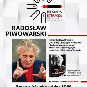 Biesiada Literacka zRadosławem Piwowarskim wredzkiej bibliotece