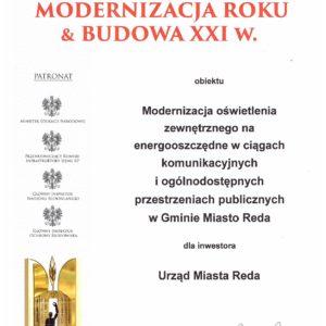 """Nominacja doFinału Ogólnopolskiego Konkursu """"Modernizacja Roku & Budowa XXI w. 2018"""""""