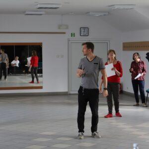 Próby sceniczne Uniwersytetu Trzeciego Wieku