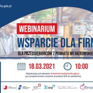 Wsparcie dla firm zpowiatu wejherowskiego – Zaproszenie nawebinarium dla przedsiębiorców 18 marca