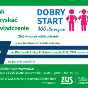 Od 1 lipca można składać wnioski o świadczenie z programu Dobry Start